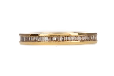Lot 1521 - A CERTIFICATED DIAMOND ETERNITY RING