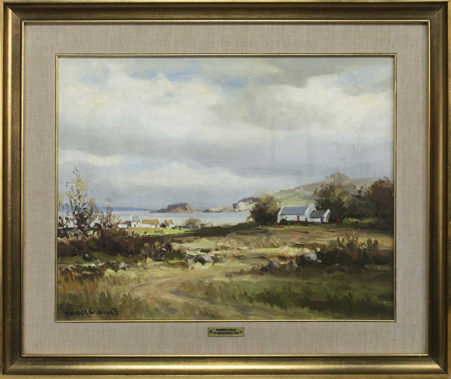 Lot 1 - AT DUNSEVERICK, AN OIL BY MAURICE CANNING WILKS