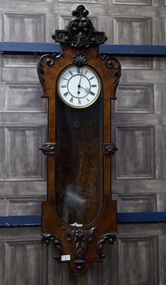 Lot 1188 - A LATE 19TH CENTURY VIENNA REGULATOR WALL CLOCK
