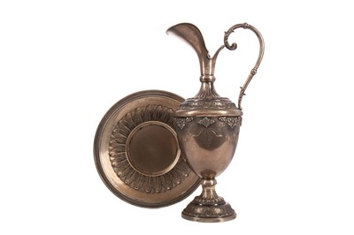Lot 451 - A CONTINENTAL 800 SILVER EWER ON STAND OF RENAISSANCE DESIGN
