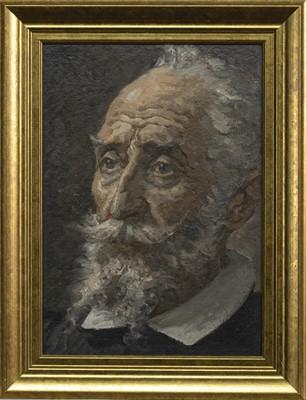 Lot 64 - PORTRAIT OF A MAN WITH A BEARD, AN OIL BY JOHN BULLOCH SOUTER