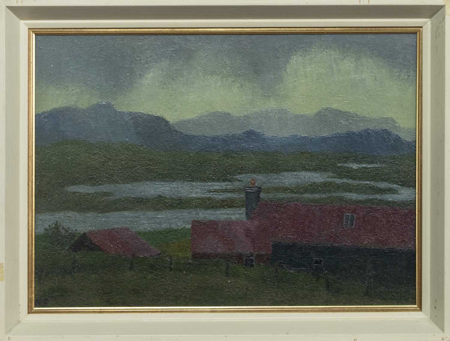 Lot 6 - ACHMORE, ISLE OF LEWIS, AN OIL BY ROBERT SAWYERS