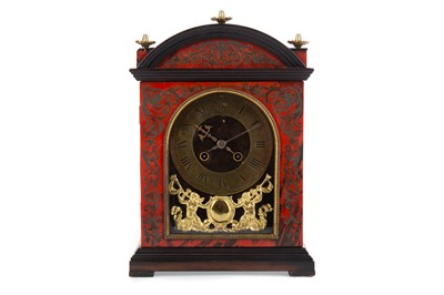 Lot 1190 - A LATE 19TH CENTURY FRENCH BOULLE MANTEL CLOCK