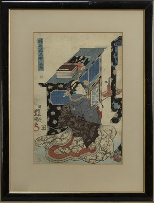 Lot 1666 - A LATE 19TH/EARLY 20TH CENTURY JAPANESE WOODBLOCK PRINT