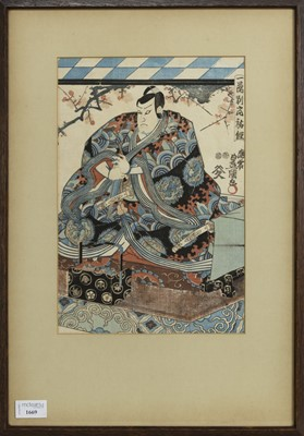 Lot 1669 - AN EARLY 20TH CENTURY JAPANESE WOODBLOCK PRINT