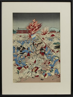 Lot 1673 - AN EARLY 20TH CENTURY JAPANESE WOODBLOCK PRINT