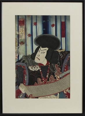 Lot 1676 - AN EARLY 20TH CENTURY JAPANESE WOODBLOCK PRINT