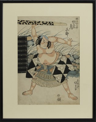 Lot 1679 - AN EARLY 20TH CENTURY JAPANESE WOODBLOCK PRINT