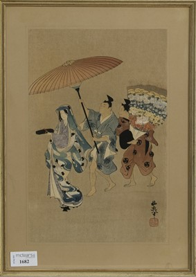 Lot 1682 - AN EARLY 20TH CENTURY JAPANESE WOODBLOCK PRINT