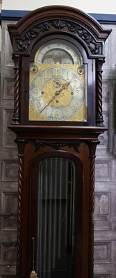 Lot 1198 - AN IMPRESSIVE EDWARDIAN MAHOGANY LONGCASE CLOCK BY EDWARD & SONS
