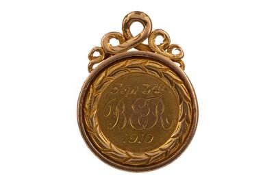 Lot 1775 - AN EDWARDIAN CERTIFICATE OF MERIT FIRST PLACE 15 CARAT GOLD MEDAL