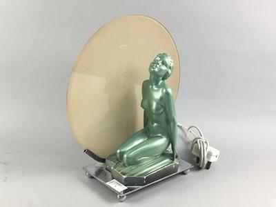 Lot 1 - AN ART DECO TABLE LAMP