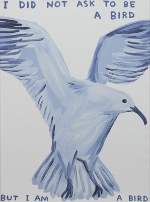 Lot 564A - I DID NOT ASK TO BE A BIRD, A LITHOGRAPH BY DAVID SHRIGLEY