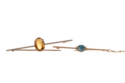 Lot 312 - TWO BAR BROOCHES