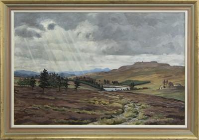 Lot 567 - LOCH MEALLBRODDEN, CRIEFF, AN OIL BY ADAM ROBSON