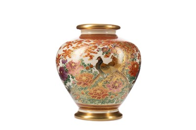 Lot 1661 - A JAPANESE SATSUMA VASE