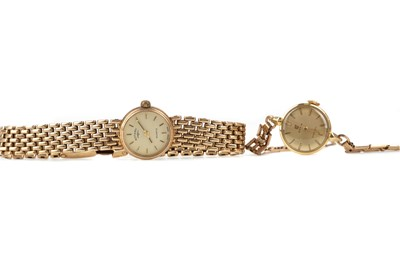 Lot 709 - TWO LADY'S GOLD WATCHES