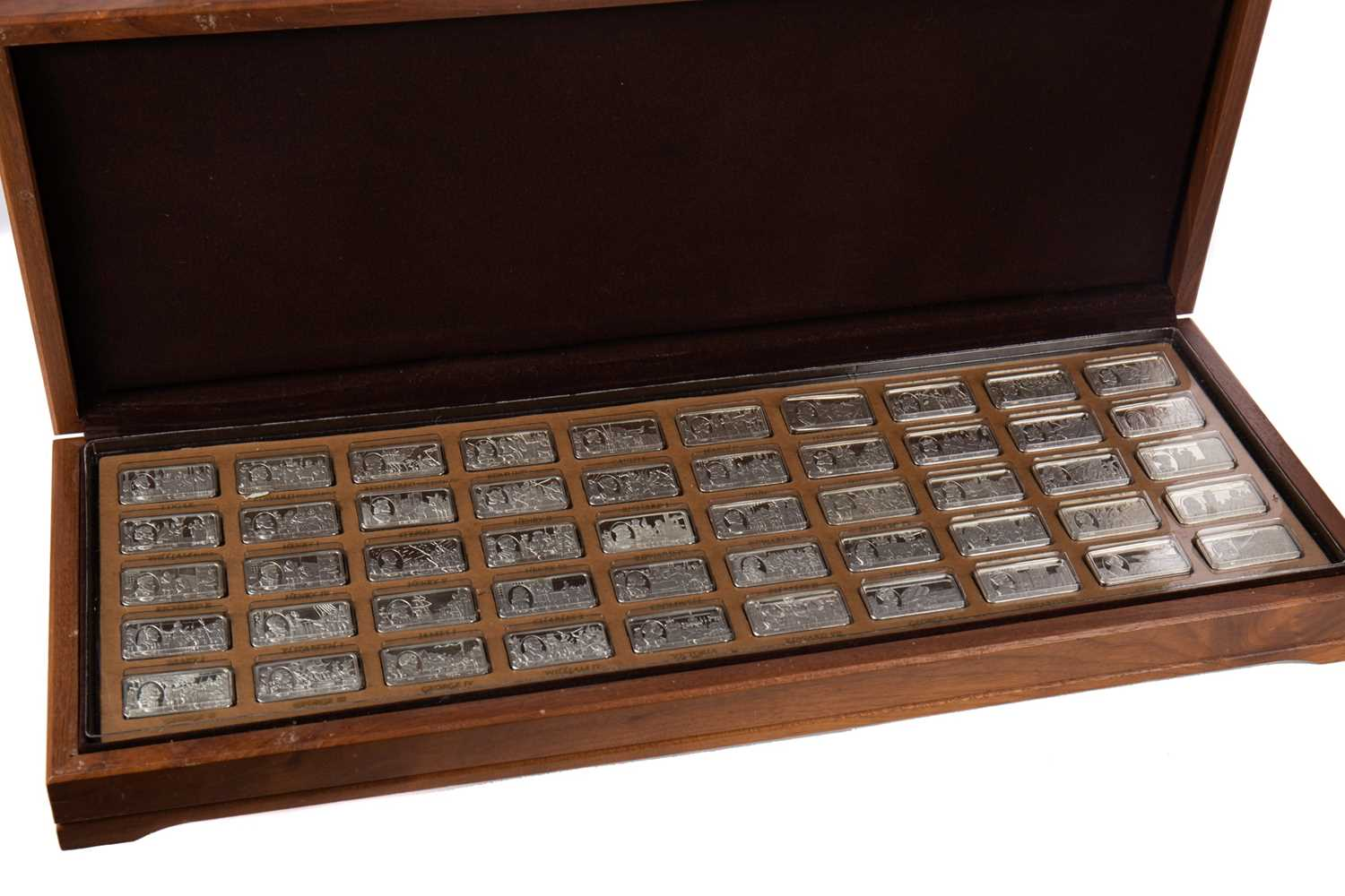 Lot 490 - A SET OF SILVER INGOTS COMMEMORATING '1,000 YEARS OF BRITISH MONARCHY'