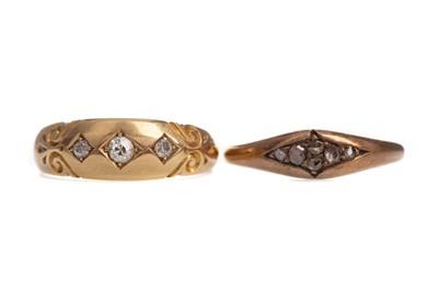 Lot 325 - TWO DIAMOND RINGS