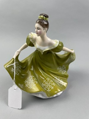 Lot 15 - A ROYAL DOULTON FIGURE OF LYNNE, ALONG WITH OTHER CERAMICS