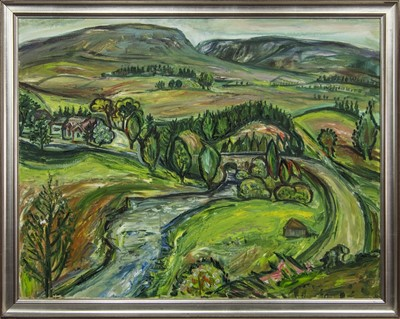 Lot 586 - ABOVE AMULREE, AN OIL BY LADY LUCINDA L MACKAY