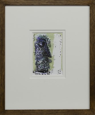 Lot 591 - DOUBLE SELF PORTRAIT I - LOOKING BACK SERIES, A MIXED MEDIA BY JOHN BYRNE