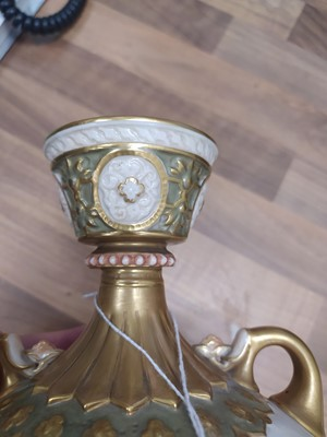 Lot 1077 - A ROYAL WORCESTER VASE BY HARRY STINTON