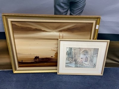 Lot 65 - A GROUP OF 6 PAINTINGS AND PRINTS