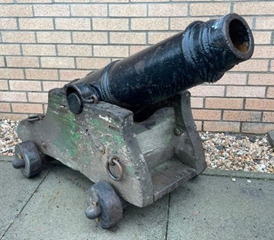 Lot 857 - A PAIR OF 19TH CENTURY NAVAL CANNONS