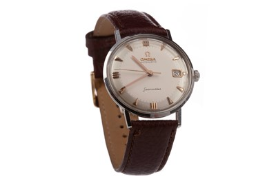Lot 717 - A GENTLEMAN'S OMEGA SEAMASTER STAINLESS STEEL AUTOMATIC WRIST WATCH