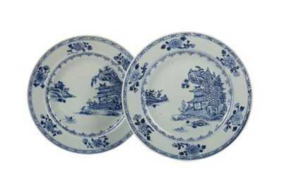 Lot 1602 - A PAIR OF CHINESE BLUE AND WHITE CIRCULAR PLATES
