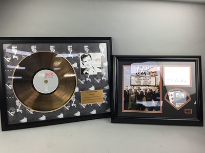 Lot 39 - A FRANK SINATRA 'HIS WAY' IN RECOGNITION, ALONG WITH A RAT PACK DISPLAY