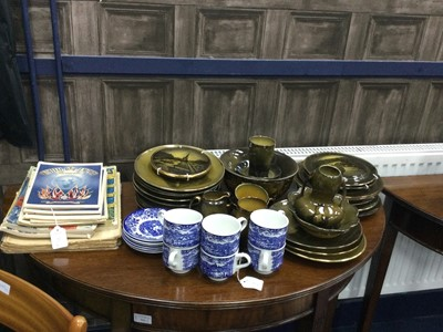 Lot 71 - A COLLECTION OF RIDGWAYS PLATES, BOWLS AND CUPS AND OTHER ITEMS