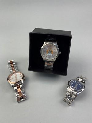 Lot 10 - A LOT OF THREE FASHION WATCHES