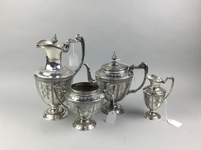 Lot 81 - A VICTORIAN PLATED VASE SHAPED FOUR PIECE TEA AND COFFEE SERVICE