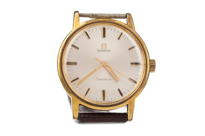 Lot 726 - A PARTIAL GENTLEMAN'S OMEGA GOLD PLATED MANUAL WIND WRIST WATCH