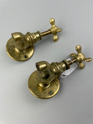 Lot 53 - A PAIR OF BRASS TAPS