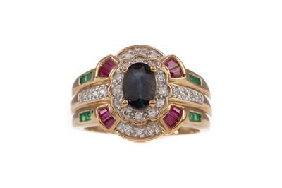 Lot 411 - A GEM SET AND DIAMOND RING