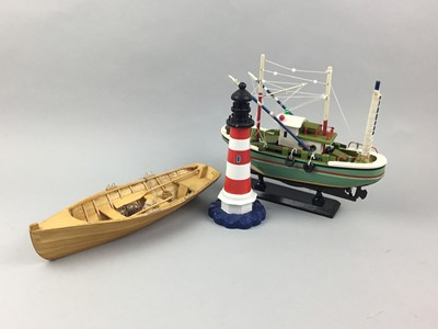 Lot 90 - A COLLECTION OF SIX MODEL BOATS