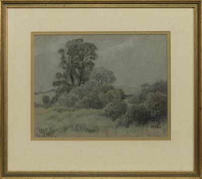 Lot 26 - LANDSCAPE OF TREES, A PASTEL BY JOHN BULLOCH SOUTER