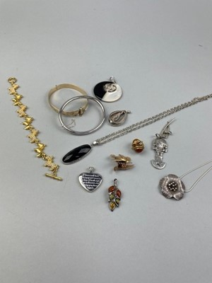 Lot 2 - A COLLECTION OF SILVER PENDANTS