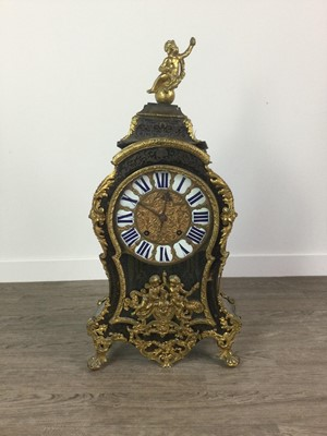 Lot 1101 - A LARGE 19TH CENTURY BOULLE WORK EIGHT DAY CLOCK