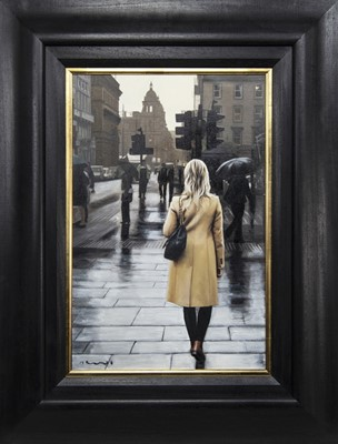 Lot 633 - IN THE CITY, AN OIL BY GERARD BURNS