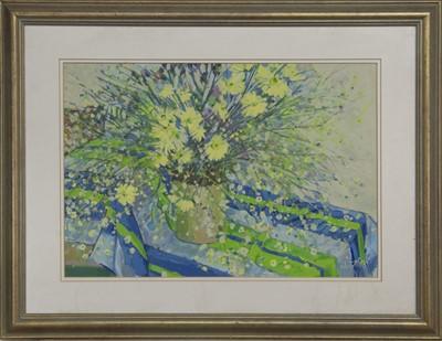 Lot 612 - A SPLASH OF FLOWERS, A GOUACHE BY SYLVIA ALLEN