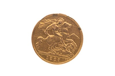 Lot 63 - A GOLD HALF SOVEREIGN DATED 1907