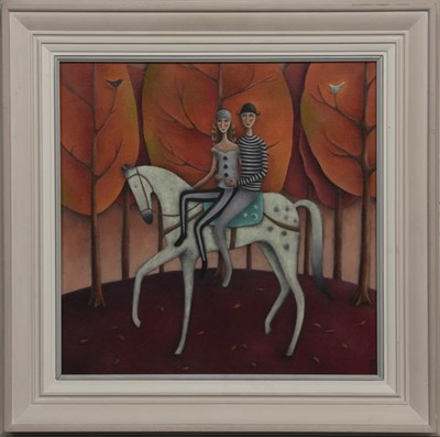 Lot 640 - AN UNEXPECTED JOURNEY, AN OIL BY ALISON THOMAS