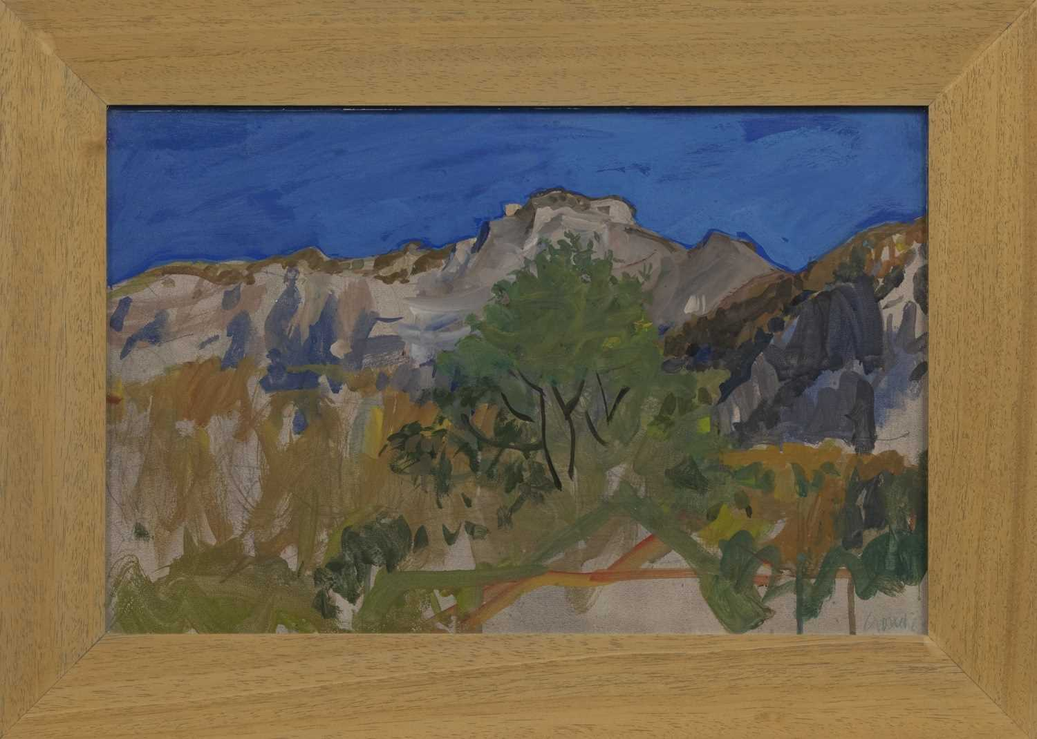 Lot 609 - MONT VEYRIER, A MIXED MEDIA BY ALEXANDER GOUDIE