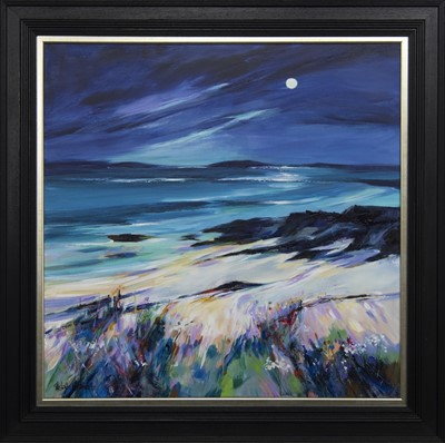 Lot 637 - THE SUMMER ISLES, AN ACRYLIC BY SHELAGH CAMPBELL