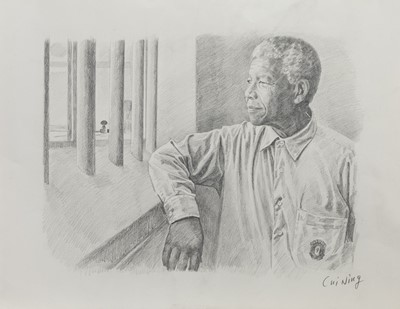 Lot 103 - NELSON MANDELA, A PENCIL BY CUI NING