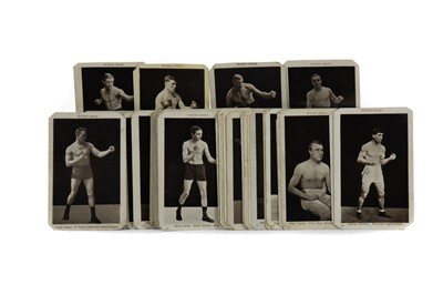 Lot 1703 - A COLLECTION OF EARLY 20TH CENTURY PHOTOGRAPHIC POSTCARDS DEPICTING BOXERS